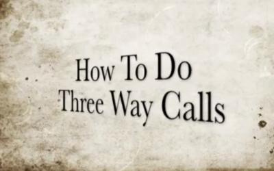 Monday Motivational Call- How to Do Three Way Calls